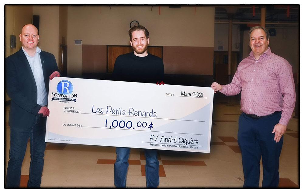 Don de 1 000 $ à Les Petits Renards