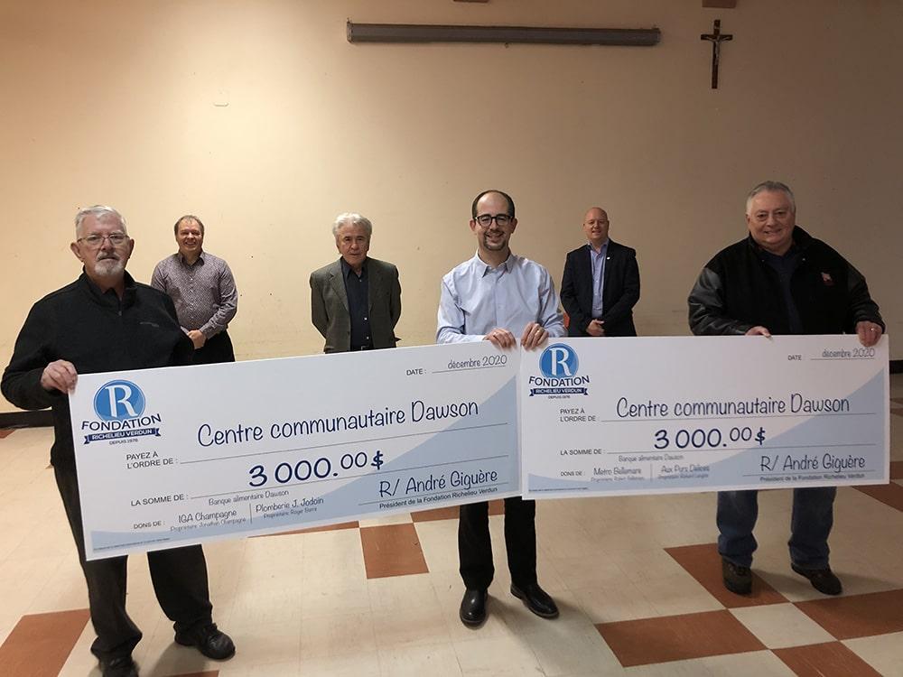 Dons de 3 000 $ à Centre communautaire Dawson